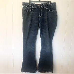 Red Rivet Boot Cut Jeans
